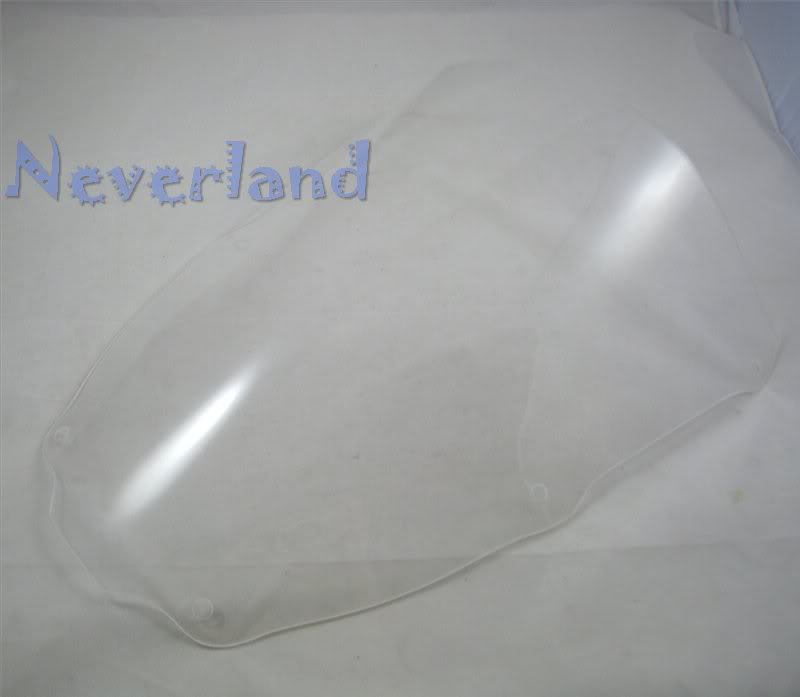 Hot sale Clear Motorcycle Windscreen Windshield for Kawasaki ZX6R 2000 2001 2002 00-02 01 Double Bubble#30C10