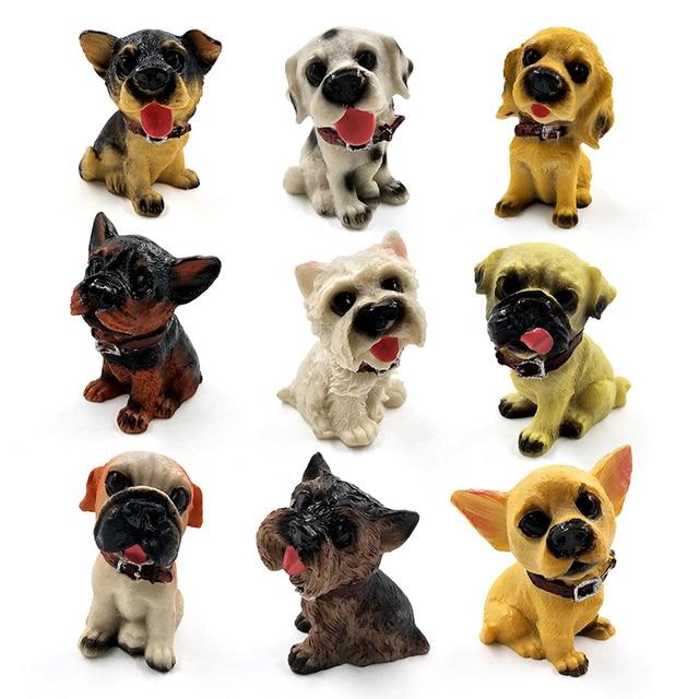 1pc Famous Dogs Model puppy Status Home Office Car ornament Decor Cartoon Figurines People Animal statue resin craft TNJ016 2