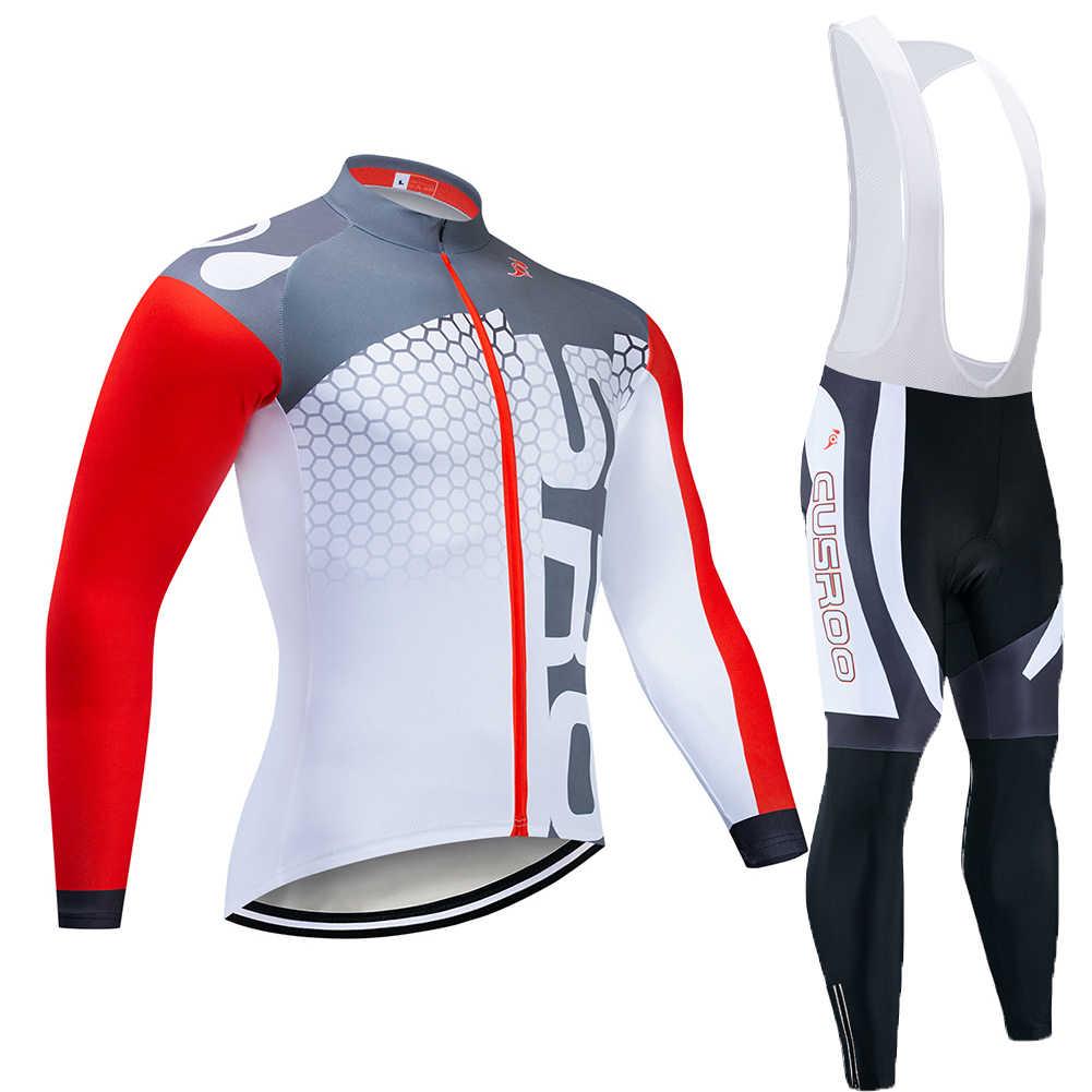 Pro Team Mens Cycling Jersey Bike Shirt Racing Tops Long Sleeve Bicycle Uniform