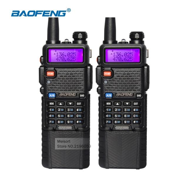 2set/lot Baofeng UV-5R 3800mAh Battery 5W Walkie Talkie Dual Band Portable Radio UHF 400-520MHz VHF 136-174MHz Two Way Ham Radio