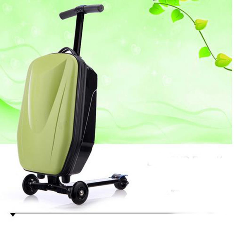 2016 New Hot Sale!!Brand micro scooter skateboard luggage suitcase with scooter Fashion Boarding Box Travel Bag Suitcase Card travel aluminum blue dji mavic pro storage bag case box suitcase for drone battery remote controller accessories