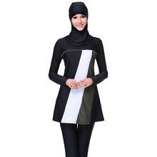 Gloednieuwe Zwarte Bescheiden Islamitische Badmode Volledige Cover Modest Islamitische Hijab Swimwears Badpakken Burkinis voor Moslim Vrouwen S-4XL