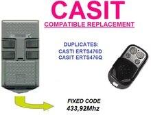 CASIT ERTS476D CASIT ERTS476Q Universal remote control/transmitter garage door replacement clone duplicator Fixed code 433.92MHz цены