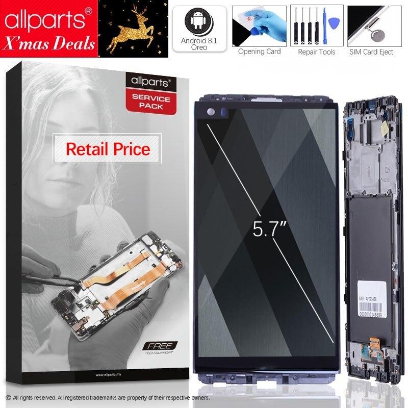 5.7'' 2560x1440 ips Оригинальныйтачскриндисплейэкрандля LG сенсорныйдисплейОригиналLCDстачскриномврамкезаменазапчасти V20 VS995 VS996 LS997 ...