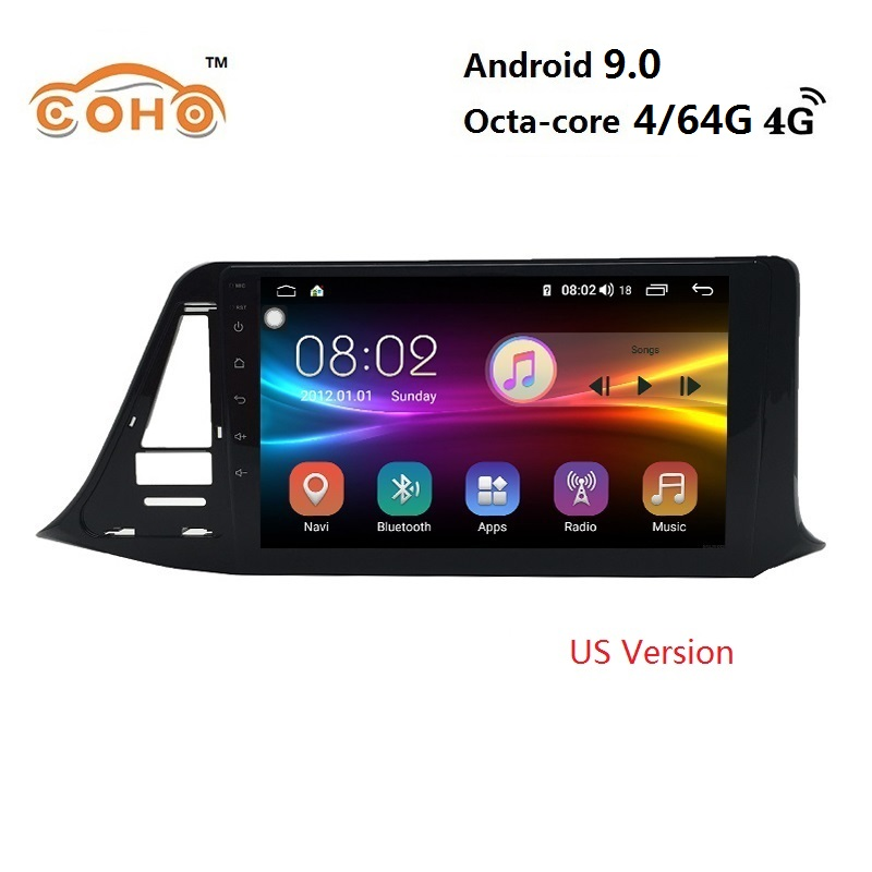 CHR RHD Android 9.0 8-core bluetooth aux radio coche <font><b>car</b></font> navigation android for <font><b>TOYOTA</b></font> CHR Right Hand <font><b>Drive</b></font> US Version image