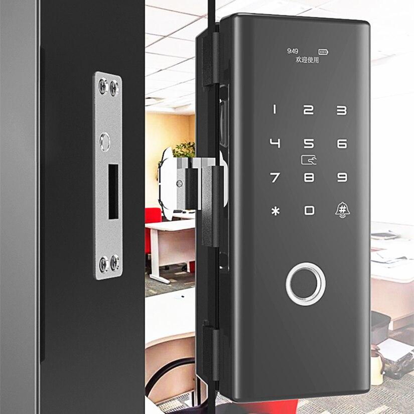 Smart Touch Clavier D'empreintes Digitales 12mm Épaisseur Porte En Verre Serrure Soutien IC Carte et Mot de Passe Serrures D'automobiles Télécommande