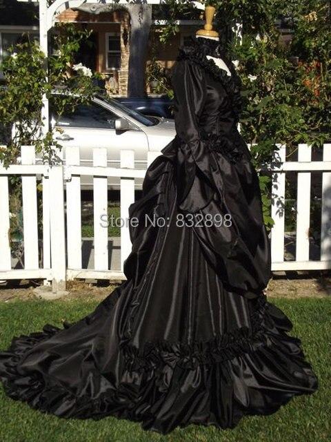 Gothic Mina Victorian Bustle Gown Wedding Custom Gown Vintag Event ...