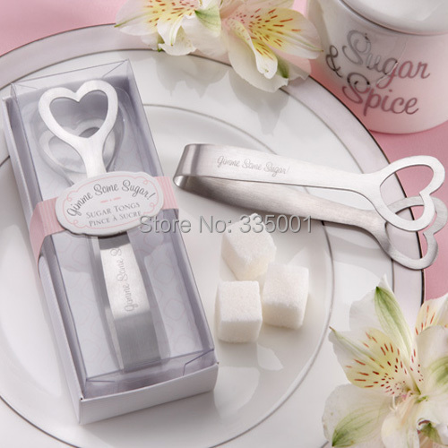 Wedding Gift And Giveaways Love Design Sugar Tongs Favors Supplies 100pcs Lot
