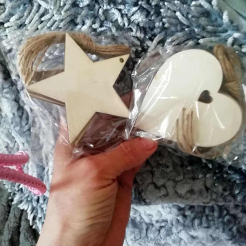 10 шт. 80 мм деревянные Сердца деревенский Свадебный декор для свадеб свадебный подарок для вечеринки Diy Декор винтажные любовные сердца поставки