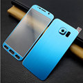 New Colorful Titanium Alloy Metal  Front+Back Tempered Glass Film For Samsung Galaxy S6 G9200 Full Cover Screen Protector