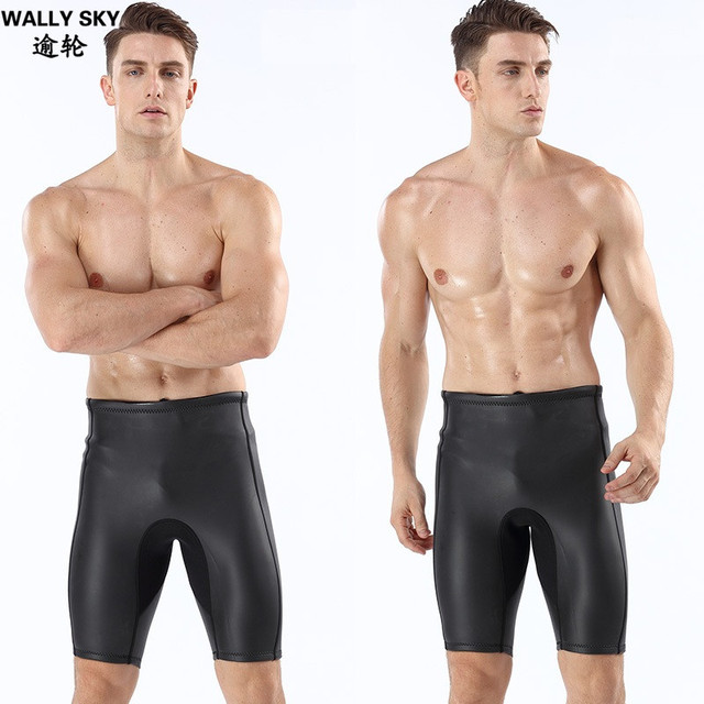 5f054ab1a7edc 2mm Neoprene Men's Wetsuits Shorts Thick Warm Black Diving Shorts Pants  Snorkeling Winter Swimming Smoothskin Trunks Water Sport