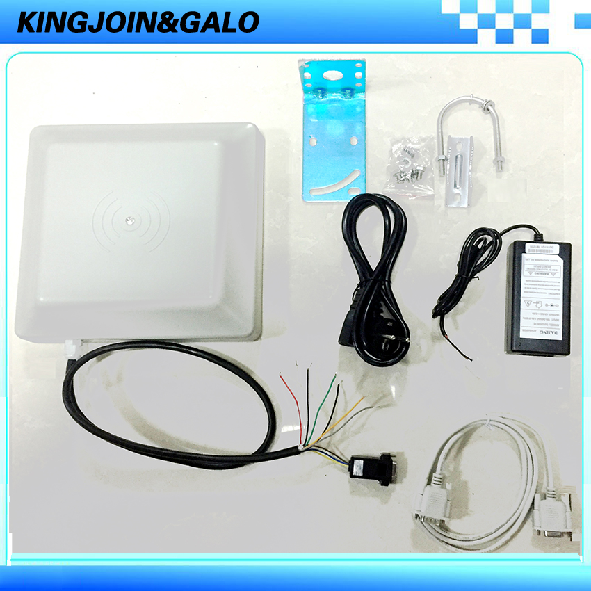 UHF RFID lecteur de cartes 0-6 m longue distance gamme avec 8dbi Antenne RS232/RS485/Wiegand Lire Intégrative lecteur UHF