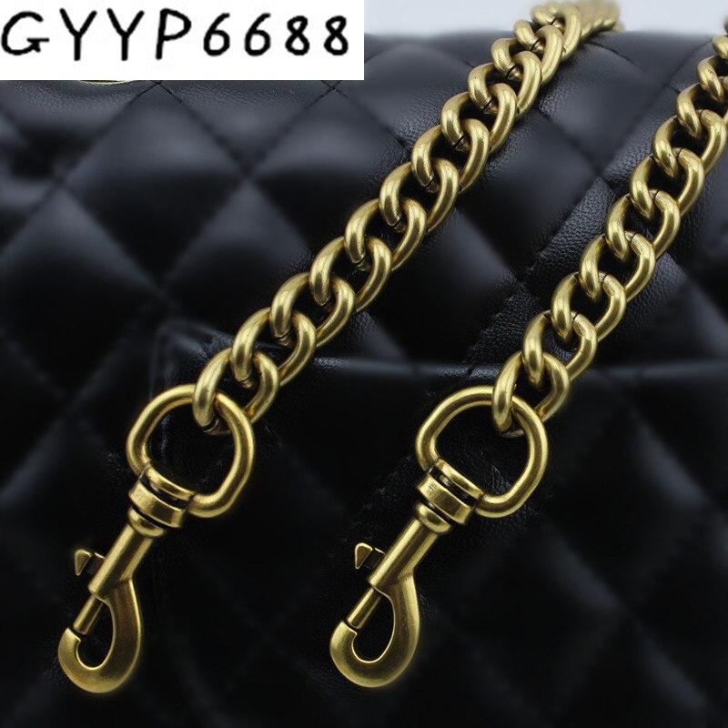 120cm 130cm Width 13mm Aluminum Chains Shoulder Straps For Handbags Purses Bags Strap Replacement Handle Accessories