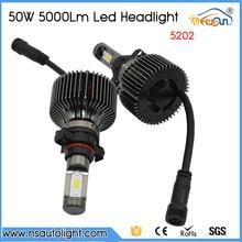 Free Shipping one pair 5202 LED Headlight Bulbs 100W 10000LM White 6000K bulb External Light DRL car styling Conversion Kit