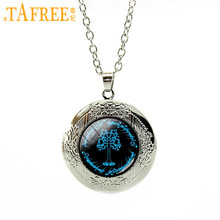 TAFREE Tree Of Life Locket Pendents Necklace Attractive Trendy Statement Necklaces Pendants Chains Choker Men Women Jewelry T654(China)