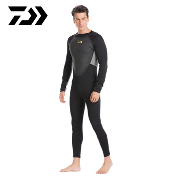 3MM Daiwa Wetsuit One-Piece and Close Body Diving Suit for Men Scuba Dive Surfing Snorkeling Spearfishing Fishing Clothes