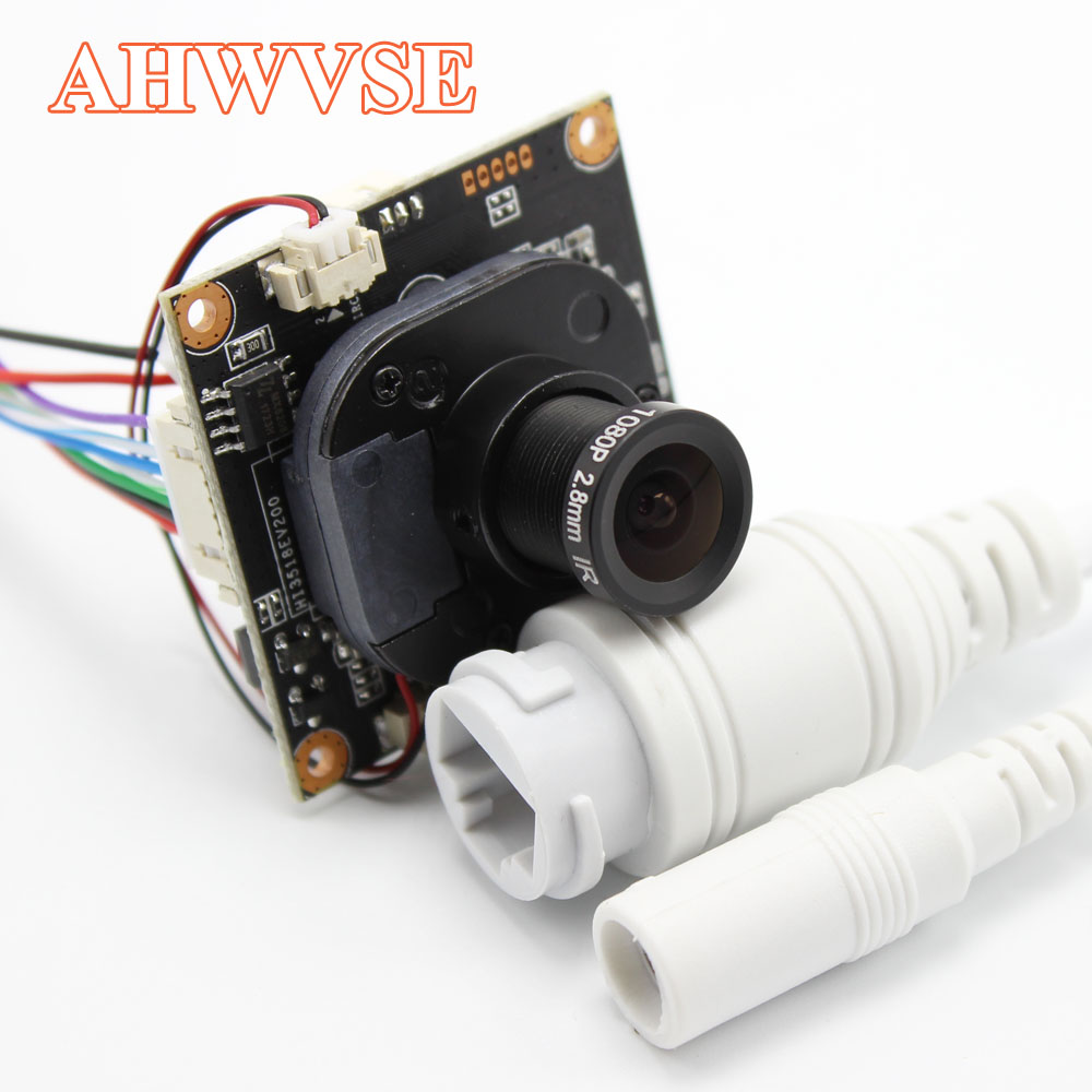 AHWVE H.265 1080P 2MP IP Camera Module Board With IRCUT RJ45 Cable Indoor NVSIP APP CMS ONVIF H264 Mobile Serveillance