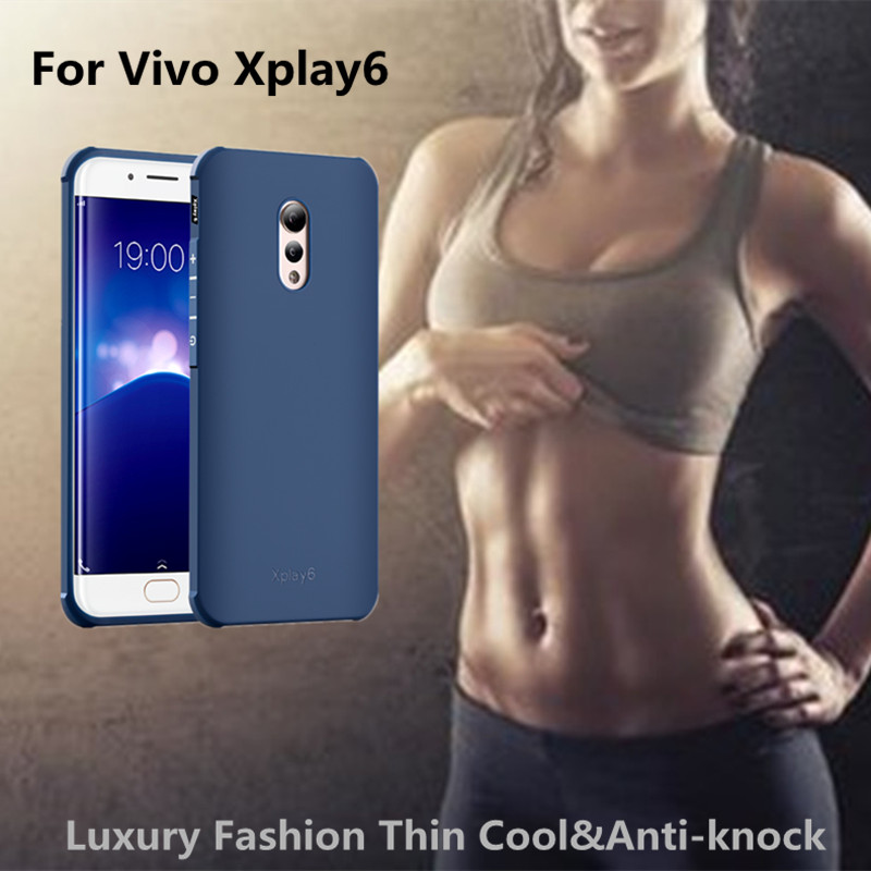 For vivo x play 6 case Luxury Soft Silicone 3D Dragon&plain frosted 360 protect back cover case for Vivo Xplay6 phone case