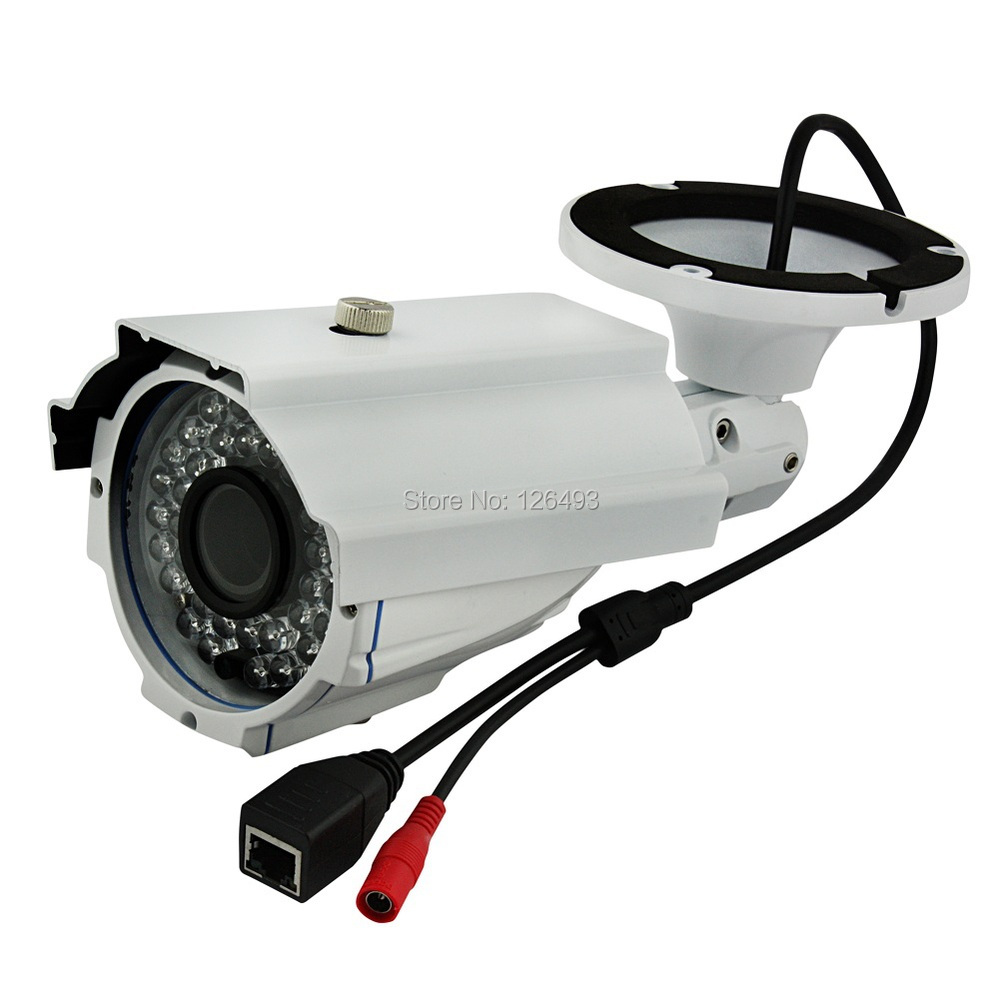 Outdoor waterproof CCTV Surveillance IP Camera with HD 2.8-12MM Varifocal Lens, With 35-40M IR distance. Zoom & Focus adjustable 42led 40m ir distance sony ccd effio e 600tvl ip66 weatherproof outdoor ir cctv camera 2 8 12mm zoom lens
