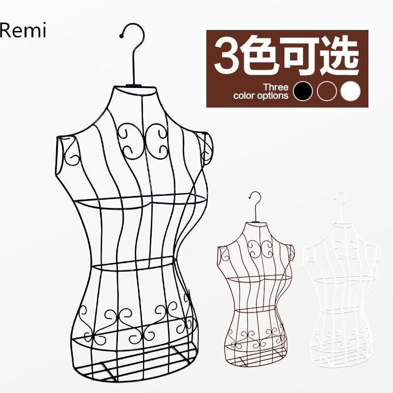 Nouveau fil robe forme Mannequin Boutique vêtements mannequin décor métal magasin affichage