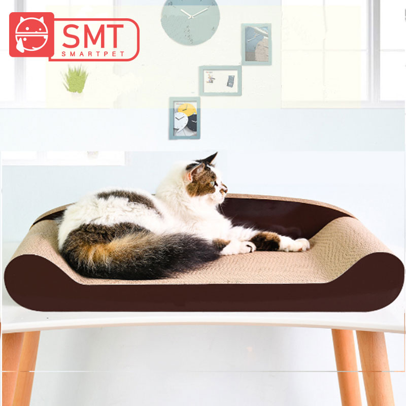 SMARTPET Corrugated Paper Pet Cat Scratch Bed Scratching Board Kitten Back Sofa Grinding Nails Toy Cat Training Toys Supplies