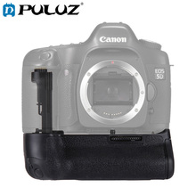 PULUZ Battery Grip For Canon EOS 5D Mark III/5DS/5DSR Vertical Digital SLR Camera Battery Grip free ship track vertical battery grip for canon eos 5d mark iii 3 5diii 5d3 slr camera ir remote 2 x lp e6 replace of bg e11