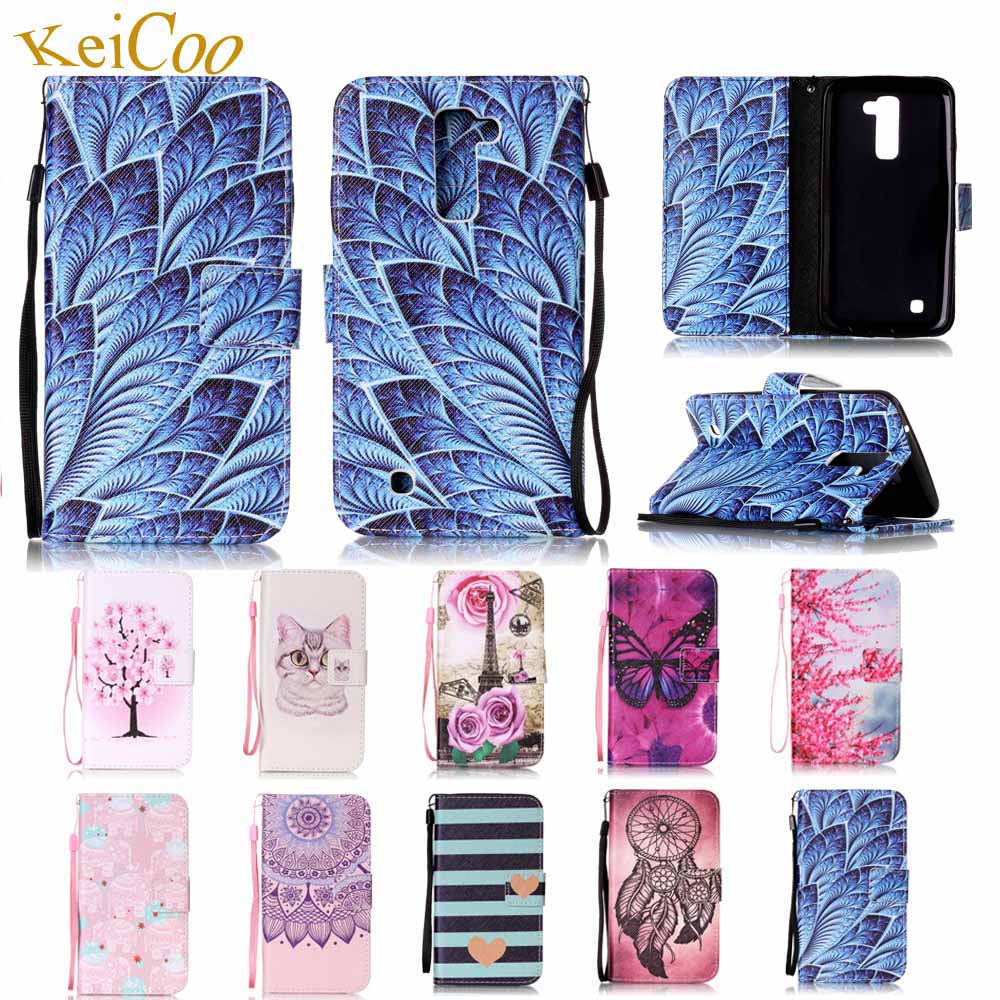 For LG K10 Lte K420DS K430N K410G K410A Brand Book Flip PU Leather Cases For LG K10 Dual Sim K430DS Cute Card Holder K10 Covers