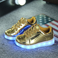 2016 Kids USB Charging Sneaker With Led slipper Children Light Up Casual Shoes For Boy&Girls Basket Led