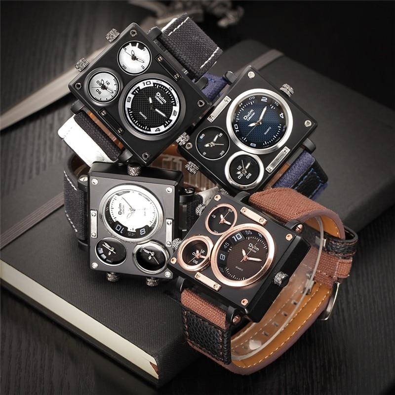 Meervoudige tydsones Square Sports Mans Brand Watches