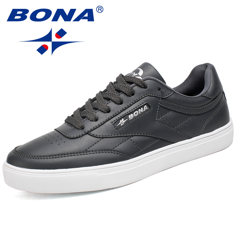 BONA Classic Style Men Skateboarding Shoes Lace Up Sport Shoes Outdoor Jogging Sneakers Zapatillas Deportivas Hombre Comfortable men s running shoes for men athletic shoes men sneakers outdoor sport shoes man black shoe zapatillas deportivas hombre 39 46