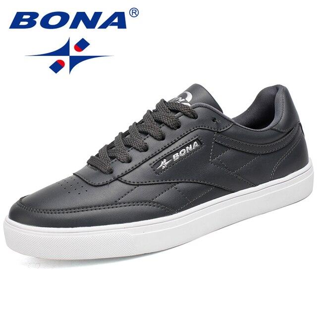 BONA Classic Style Men Skateboarding Shoes Lace Up Sport Shoes Outdoor Jogging Sneakers Zapatillas Deportivas Hombre Comfortable