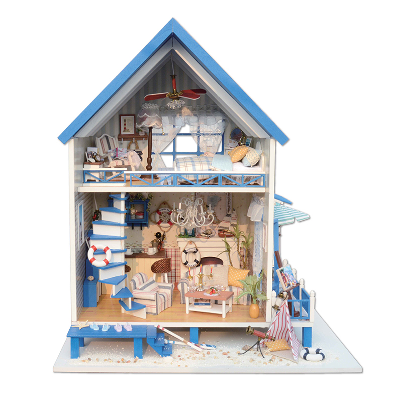 DIY Doll House Wooden Doll Houses Miniature dollhouse Furniture Kit Toys for children Gift doll houses A-018 сумка wooden houses w287 2014