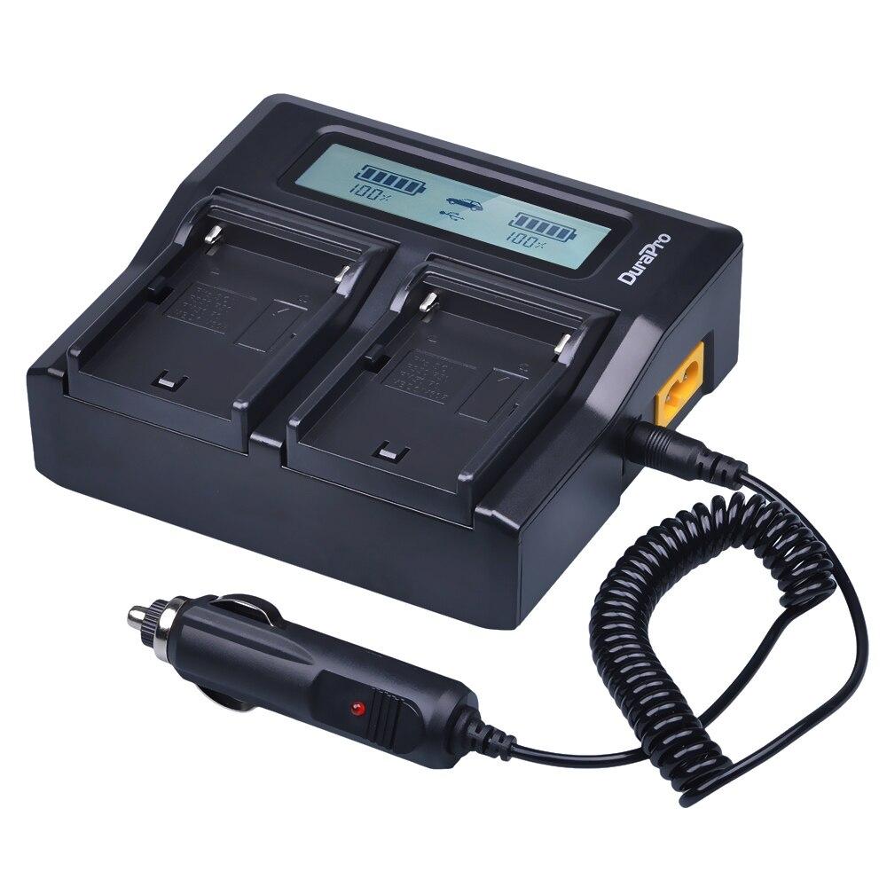 2x7200 mAh NP-F970 NP-F960 NP F970 Batteries avec alimentation LED Indicateur + LCD Chargeur Rapide pour SONY HVR-HD1000 HVR-HD1000E HVR-V1J - 5