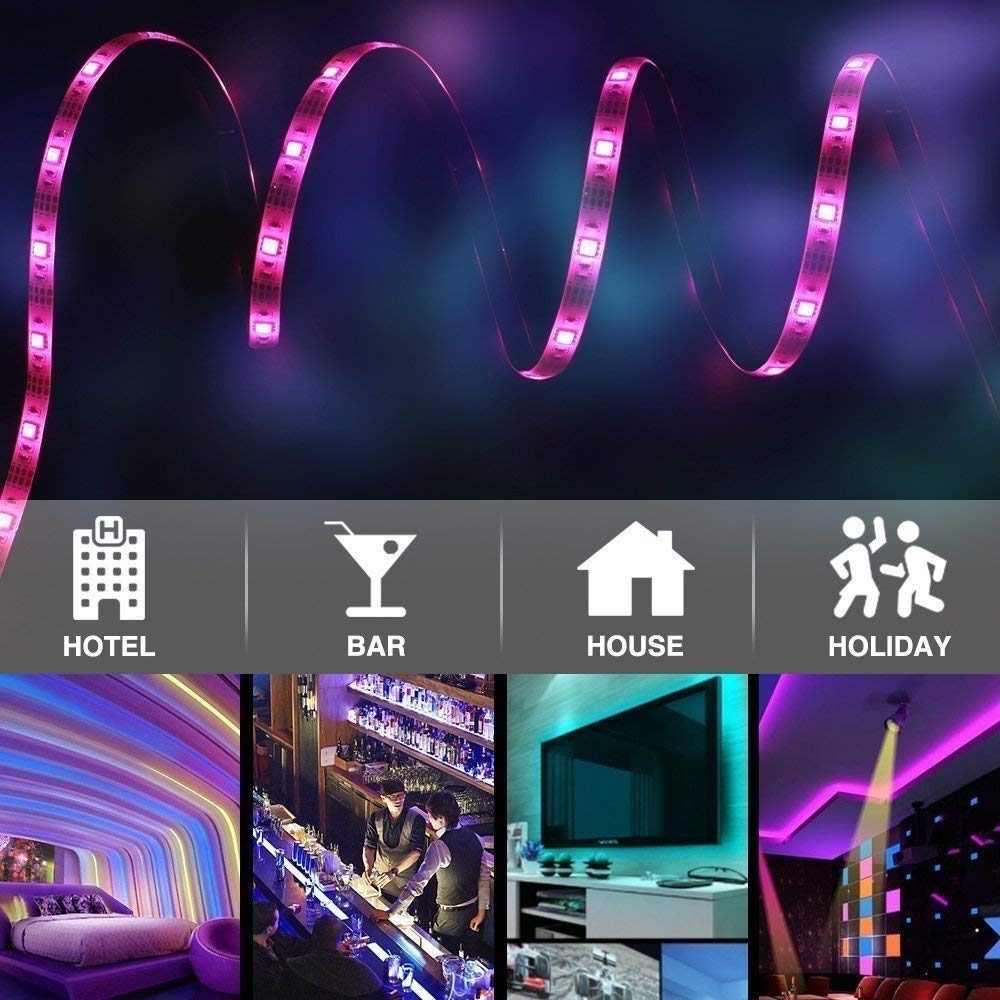 SMD 5050 12 V 300 diody led RGB taśmy wstążka 5 M 10 M 15 M nie wodoodporna elastyczna listwa LED wielokolorowe oświetlenie LED liny oświetlenie + kontroler