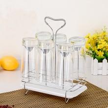 Творческий чашки напитка стеклянная чашка воды висит стойки кружка бутылка сушилка полке в кухне