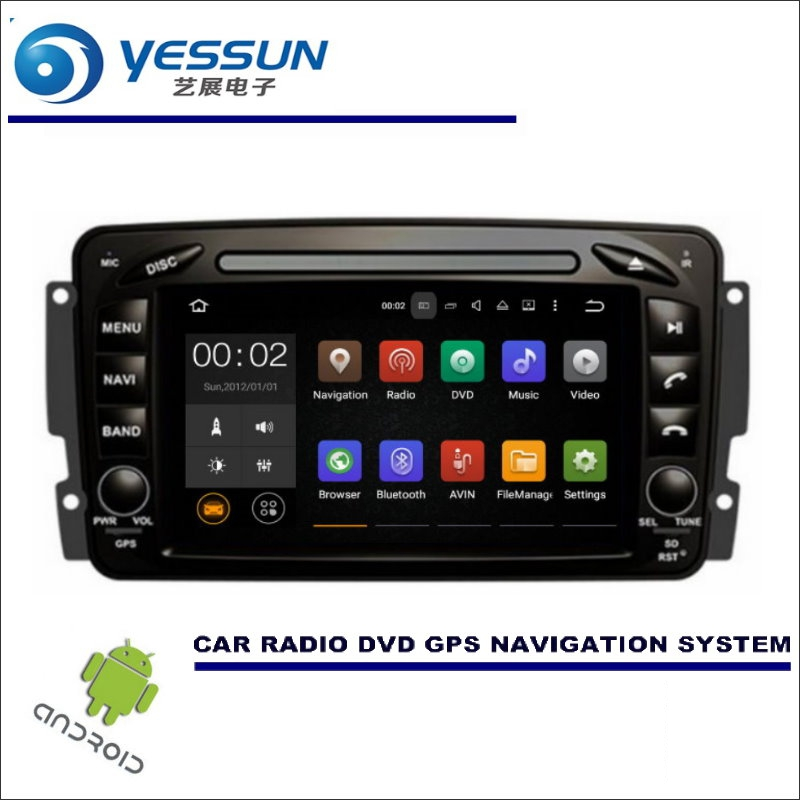 YESSUN For Mercedes Benz A W168 1997~2004 Car Multimedia Navigation CD DVD GPS Player Navi Radio Stereo Wince / Android