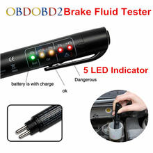Auto Car Liquid Testing Brake Fluid Tester Check Car Crake Oil Quality LED Indicator Display For Car Care Free Shipping(China)