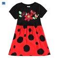 Novatx menina marca vestido de verão vestidos de moda vestido da menina flor da menina da criança crianças dot princesa menina roupas de festa