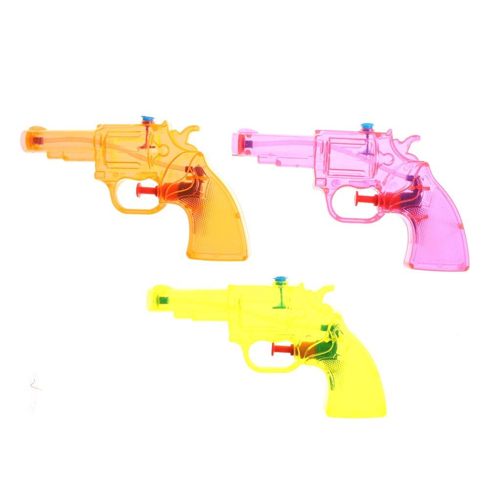 1Pcs Transparant Squirt Water Gun Summer Outdoor Toys Mini Summer Children Fight Beach Blaster Kids Pistol Toy