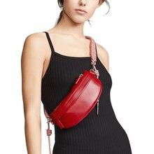 la mujer, bolso cintura