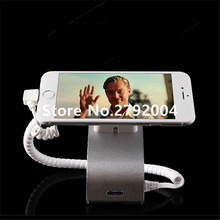 10 pcs/lot cell phone security display alarm holder remote control metal silvery color
