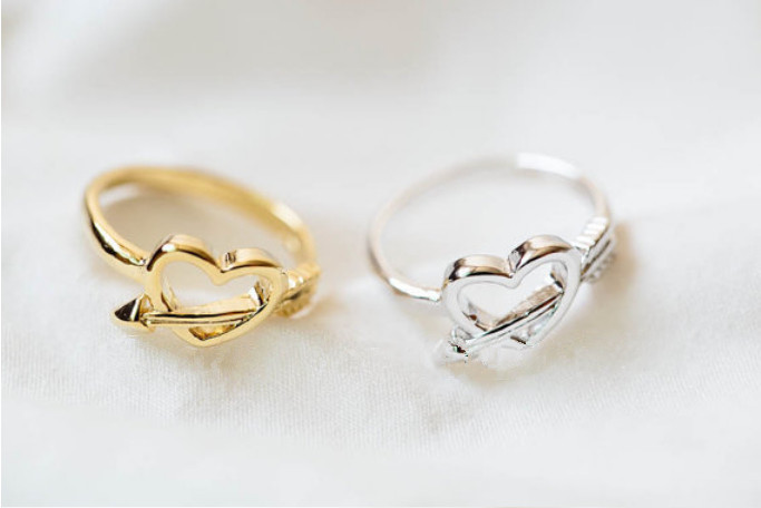Online Buy Wholesale heart shaped ring designs from China heart