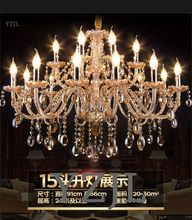 Crystal chandelier light living room dining staircase crystal lighting chandeier atmosphere vintage Amber lamp