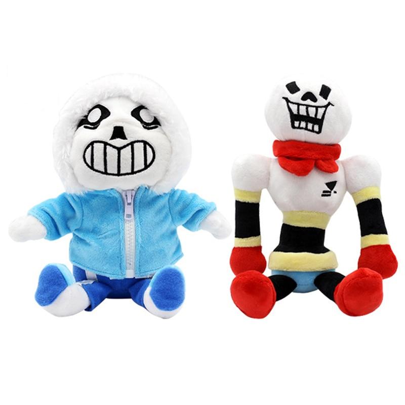 2 pcs/lot 23-30 cm Undertale Sans & Papyrus jouets en peluche poupée douce peluche dessin animé jouets pour enfants enfants cadeaux de noël