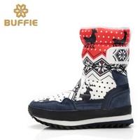 Mujeres Nieve Botas antideslizantes Calientes Zapatos de Invierno la Nieve con Hook & Loop Botas antideslizantes Impermeables Al Por Mayor gran Tamaño Disponible 35-41
