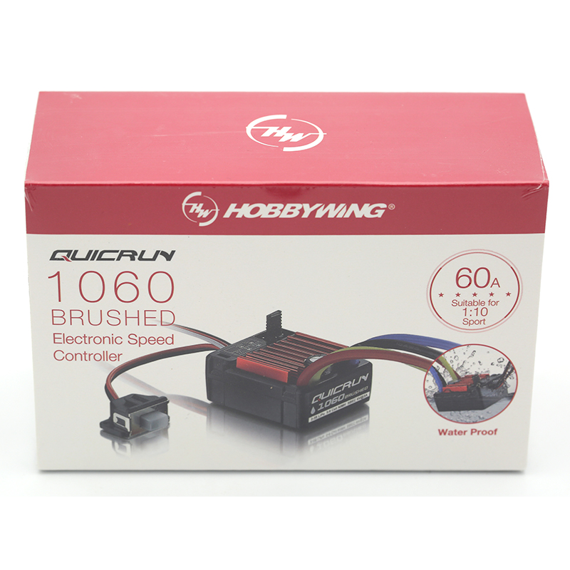 Original HobbyWing QuicRun 1060 60A cepillado controlador electrónico de velocidad ESC para 1:10 RC coche impermeable para RC Coche