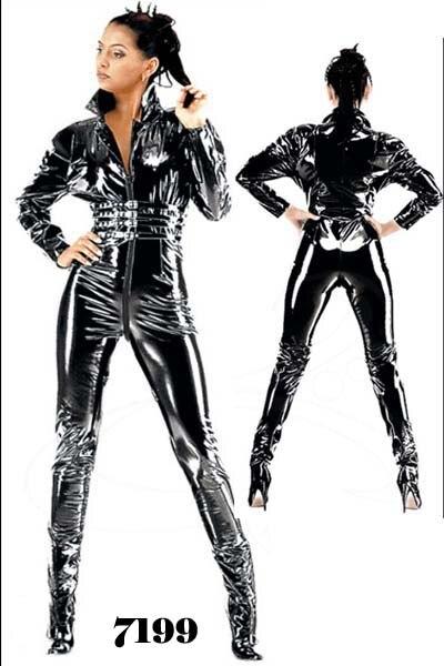 XXXXL m  plus size Sexy Lingerie Women Latex Catsuit Faux Leather Front Zipper 2018 Bodysuit Fetish Costumes Erotic