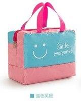 Fashion Women Travel Luggage Bag Big Capacity Folding Carry On Duffle Bag Foldable Nylon Zipper WaterProof