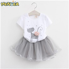 Menoea-Girls-Dress-New-2017-Clothes-100-Summer-Fashion-Style-Cartoon-Cute-Little-White-Cartoon-Dress