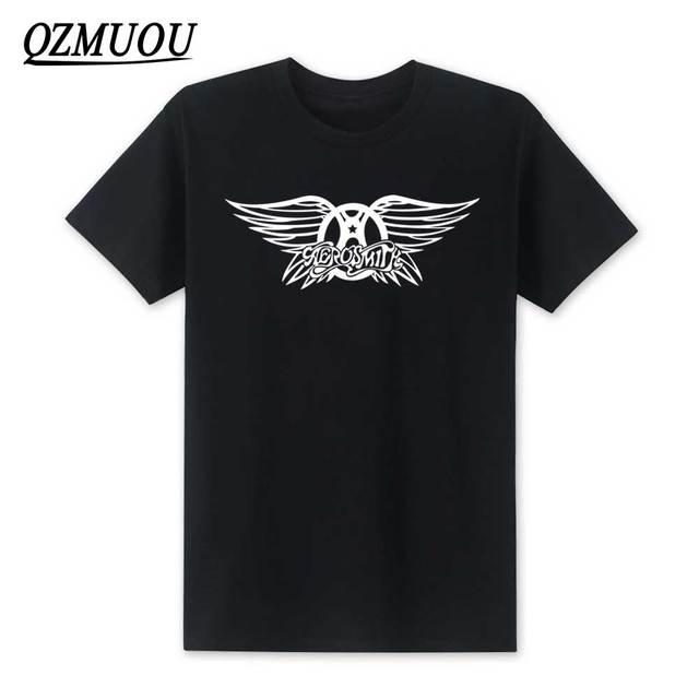 Nueva Xxl Moda Estilo Verano Hombres Tamaño Corta Nuevo De Camisetas Aerosmith Camiseta Roll Algodón Band 2019 Manga Rock Xs Yg6f7by